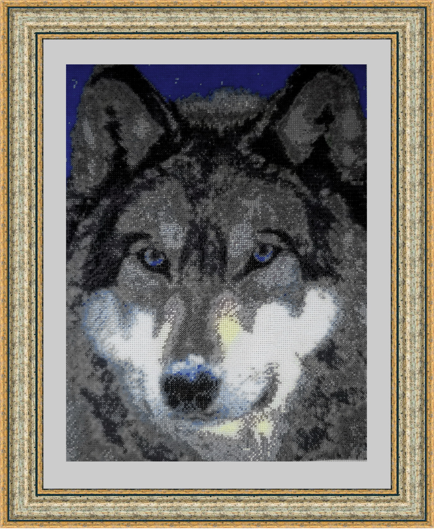 Волки вышивки бисером 54