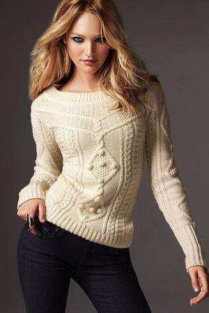 Стильные вязаные свитера для осени