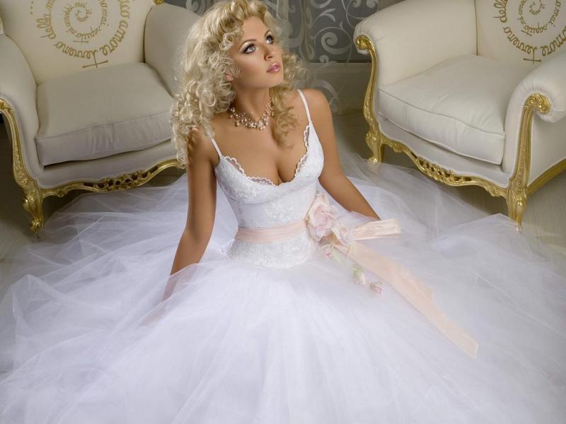 Как укоротить свадебное платье
