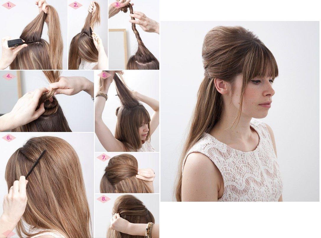 Как сделать себе прическу на длинные волосы в домашних условиях своими руками