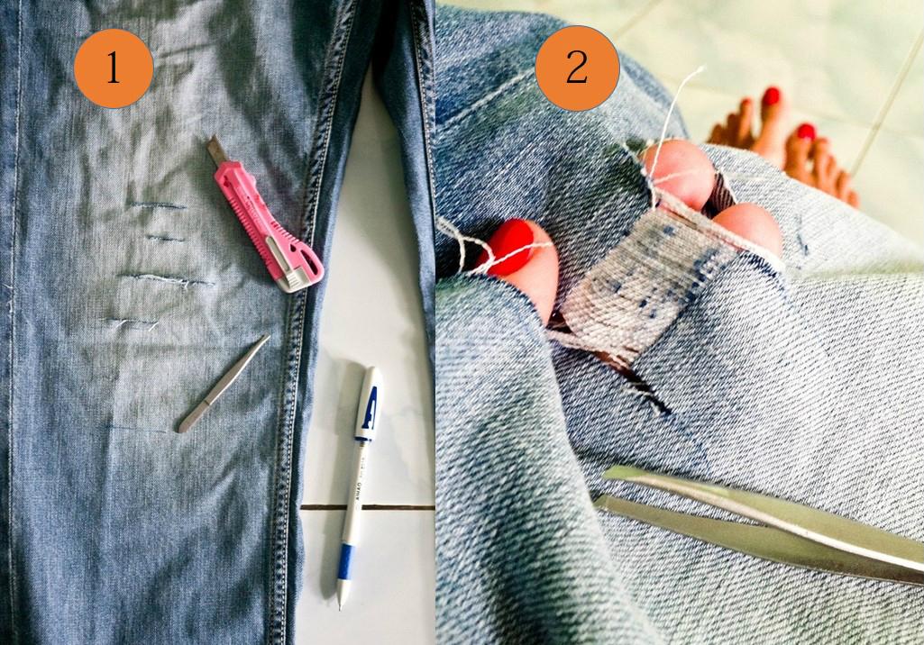 Как состарить джинсы? Клодель Моделс
