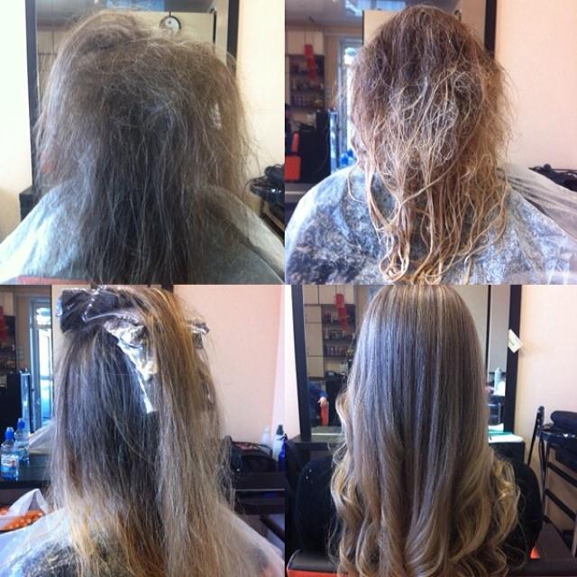 Окрашивание волос шатуш в домашних