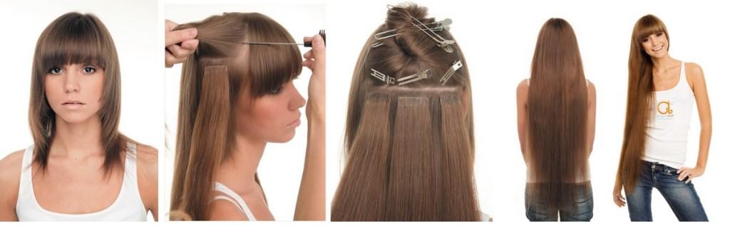 falsk hår extensions