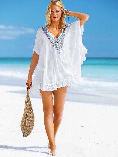 Где купить тунику для пляжа зимой 40