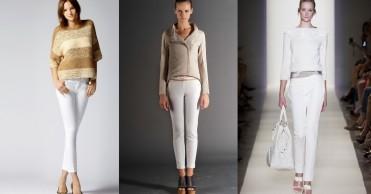 З чим носити білі жіночі брюки   ab853312dcd2a