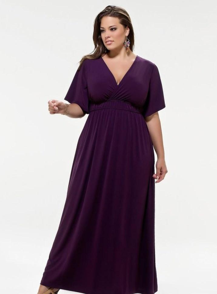 Вечернее платье на крупную девушку