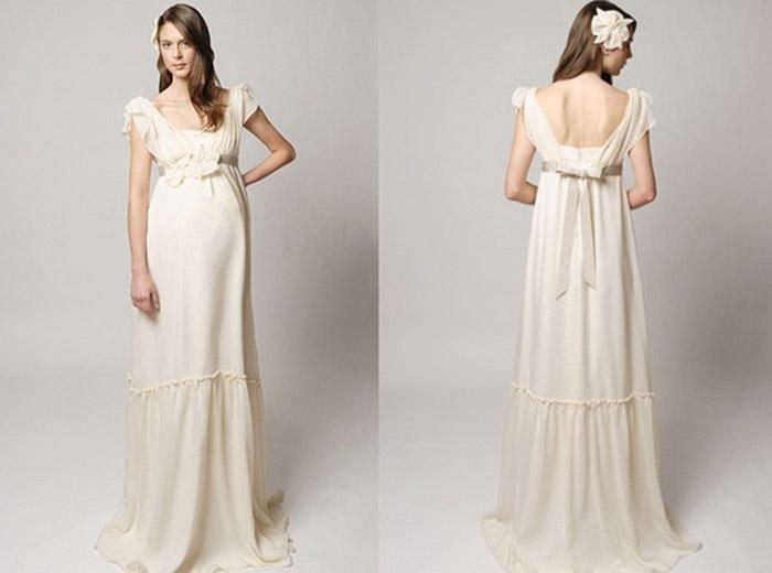 80f9ba182abae6 Весільна сукня для нареченої в цікавому положенні   Клодель Моделс