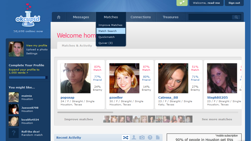 www match com username search