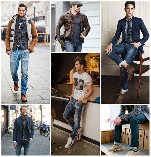 Что можно одевать с джинсами мужчинам