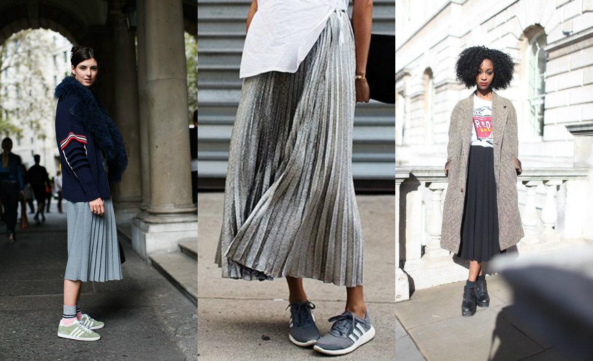 В моде бежевие юбки