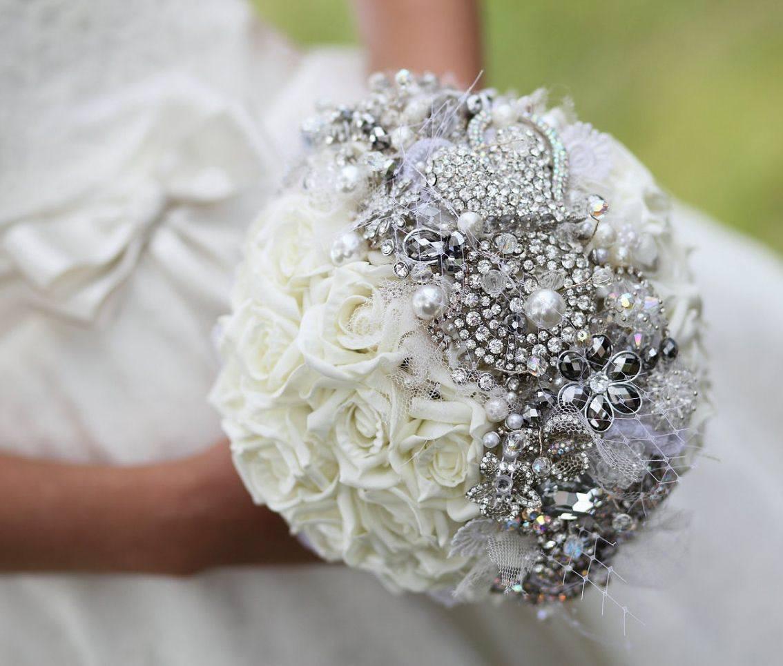 Букет свадебный круглый