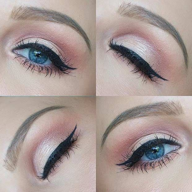Everyday makeup for blue eyes